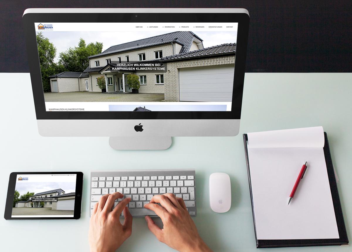 Webdesign/CMS Kamphausen Klinkersysteme