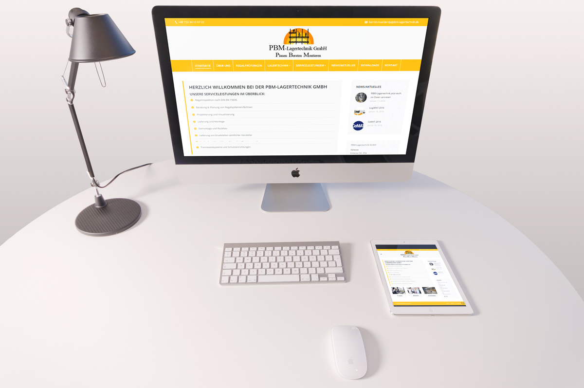 Webdesign/CMS PBM Lagersysteme